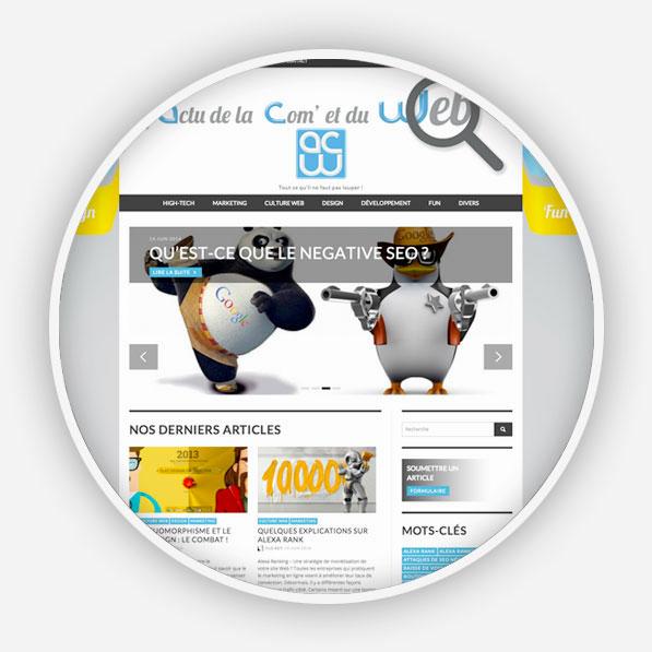 Développement du site de L'actu de la Com' et du web