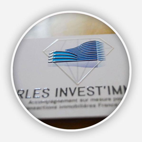 Création du logo, du flashcode design et des cartes de visites pour Irles Invest Immo