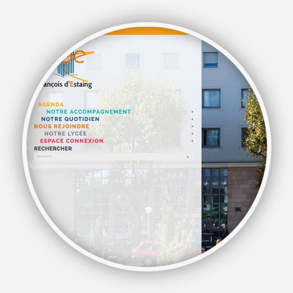 Création site internet Lycée François d'Estaing