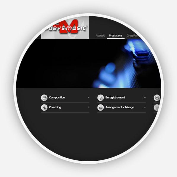 Agence Point Com - Création de site internet à Perpignan : Parys Music